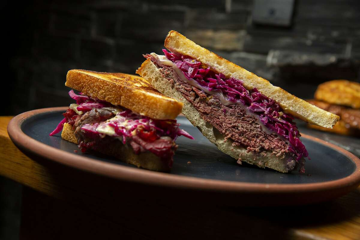 The hot pastrami at Lazy Bear on Thursday, Aug. 6, 2020, in San Francisco, Calif.