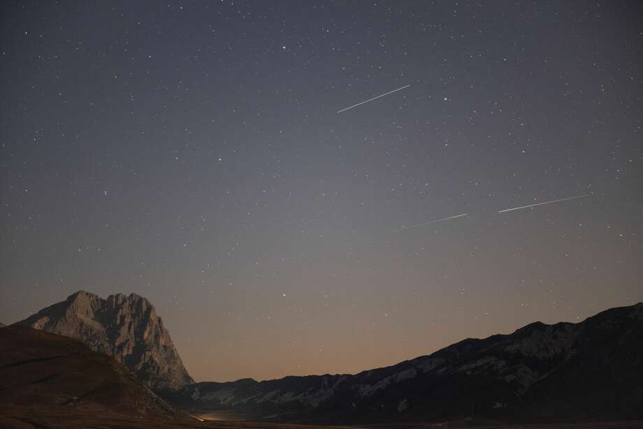 The Perseids Meteor Shower viewed in Italy on August 10, 2020. Meteors will peak in the next days during the later part of the night. Photo: NurPhoto/NurPhoto Via Getty Images / Lorenzo Di Cola/NurPhoto
