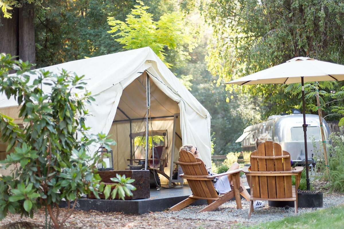 A luxury glamping tent from AutoCamp