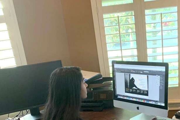 Asha Kalapatapu, a 12th grader at Seven Lakes High School in Katy Independent School District, engages in virtual learning from home.