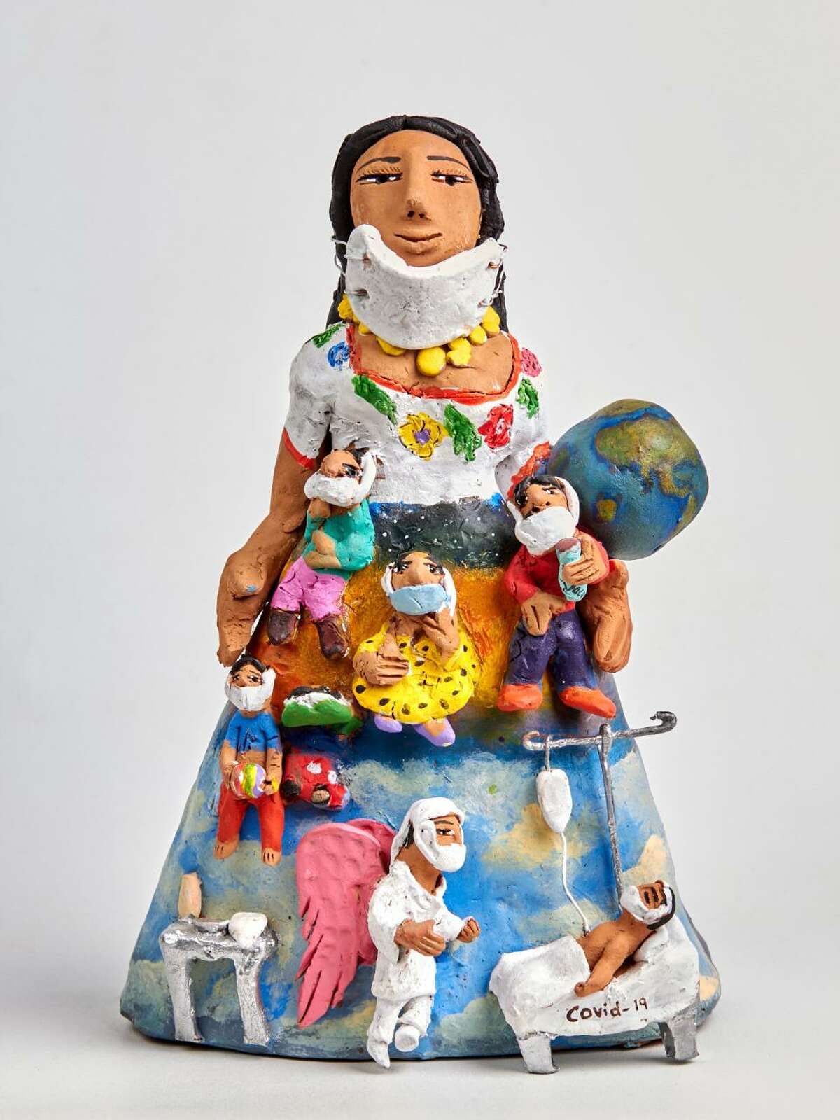 Josefina Aguilar is among the Mexican artists who won a contest judged by Alan Goldberg of New Canaan, who recently donated his extensive collection to the Mexican Museum in San Francisco while working to help artisans in Oxaca earn money lost in the COVID-19 pandemic.