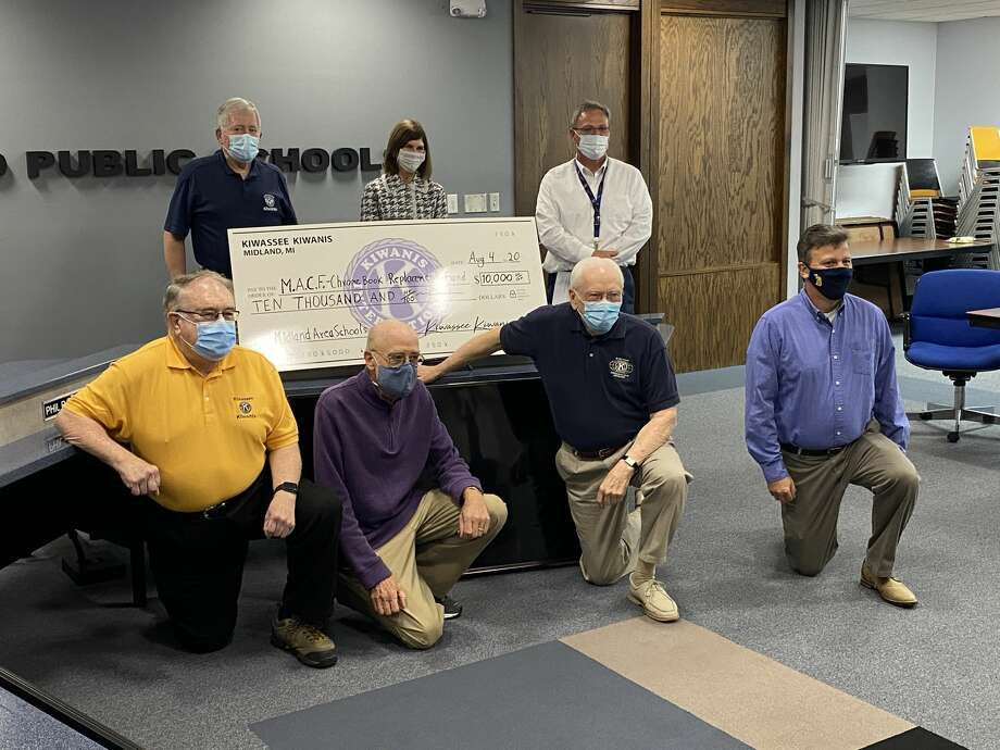 "The Midland Kiwassee Kiwanis Foundation, in cooperation with the Midland Area Community Foundation recently created the ""Midland Area Public Schools Chromebook Replacement Fund."" The Kiwassee Kiwanis Foundation kicked off this fund by donating an initial grant of $10,000. Photo: (Photo Provided)"