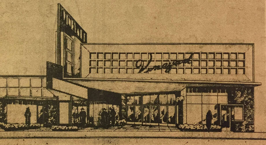 "The original 1955 concept drawing of the the the theater, originally called ""Vineyard."" It was later changed to the Vine Theatre. Photo: Kenny Way/Vine Cinema"