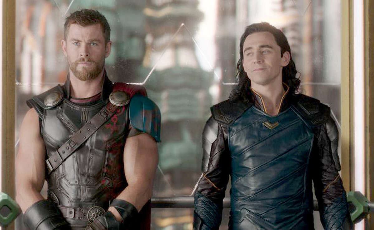 Brothers in arms, Thor (Chris Hemsworth), left, and Loki (Tom Hiddleston), in