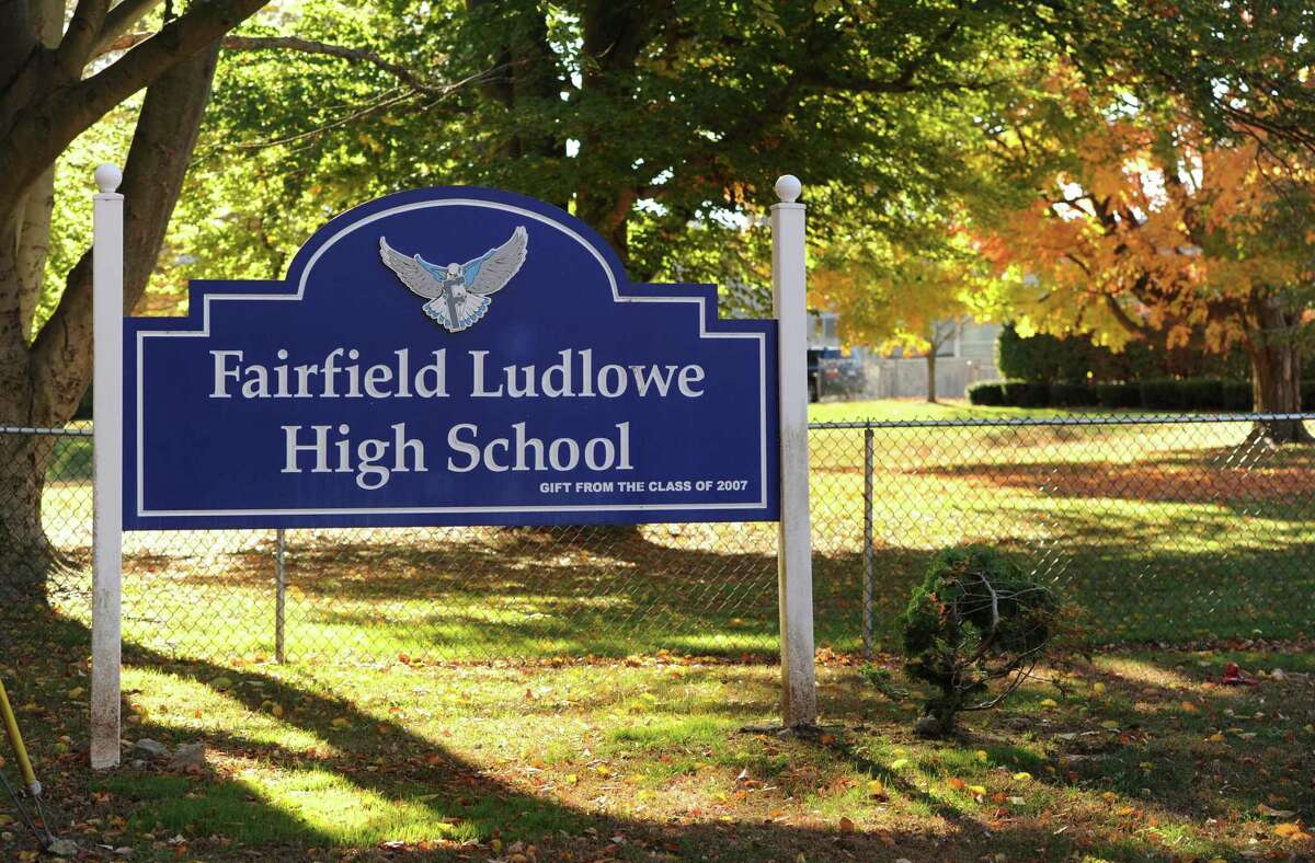 File photo of Fairfield Ludlowe High School at 785 Unquowa Road in Fairfield, Conn.
