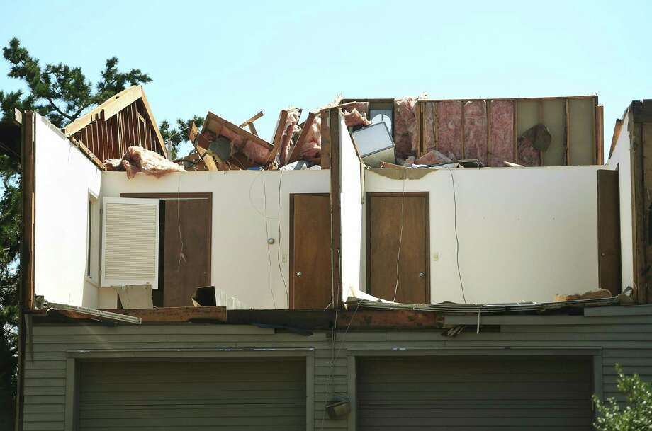 A now roofless home in the aftermath of a Tropical Storm Isaias tornado at 9 Surf Road in Westport, Conn. on Monday, August 10, 2020. Photo: Brian A. Pounds / Hearst Connecticut Media / Connecticut Post