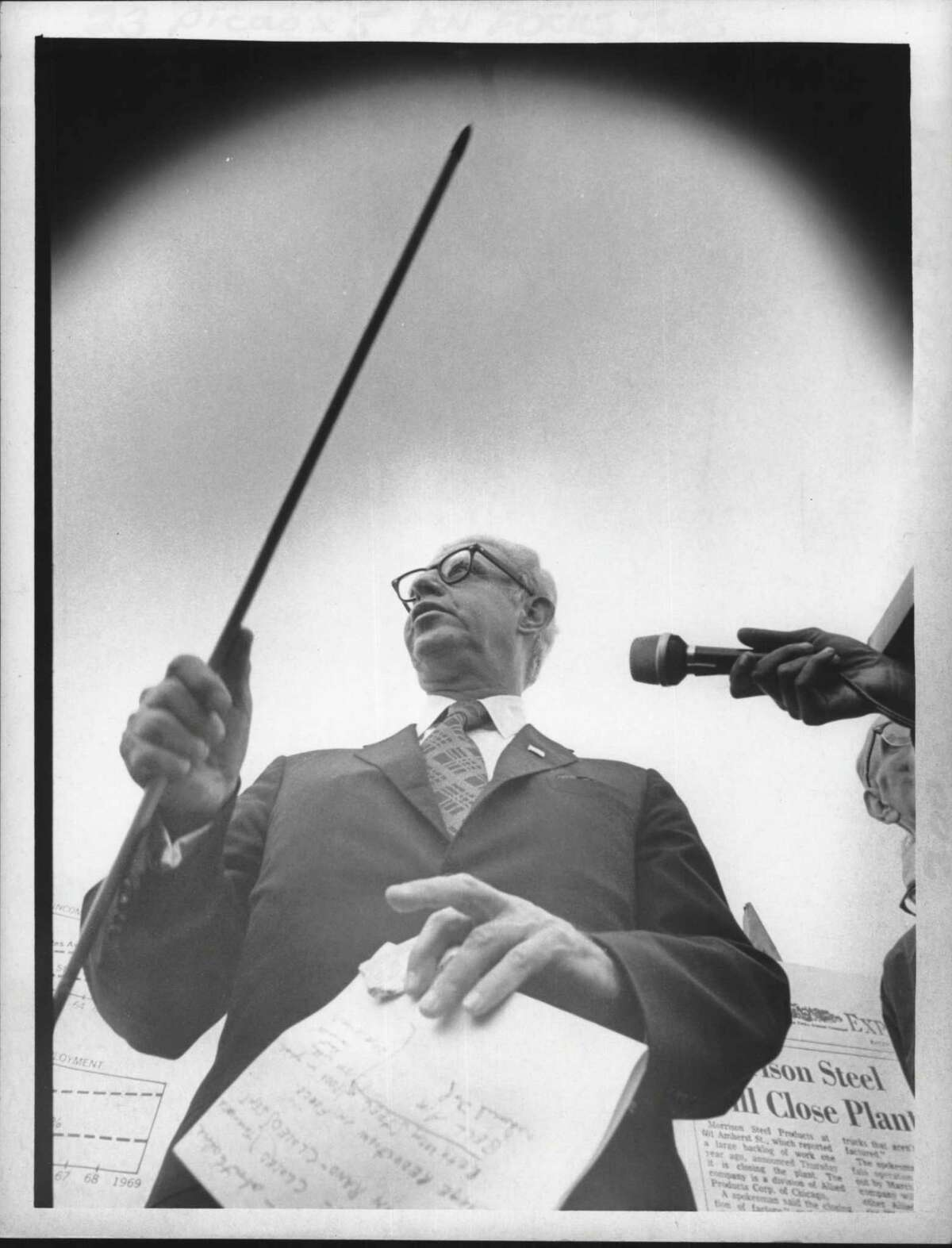 Arthur Goldberg, Democratic candidate for Governor of New York. October 1970 (Fred McKinney/Times Union Archive)