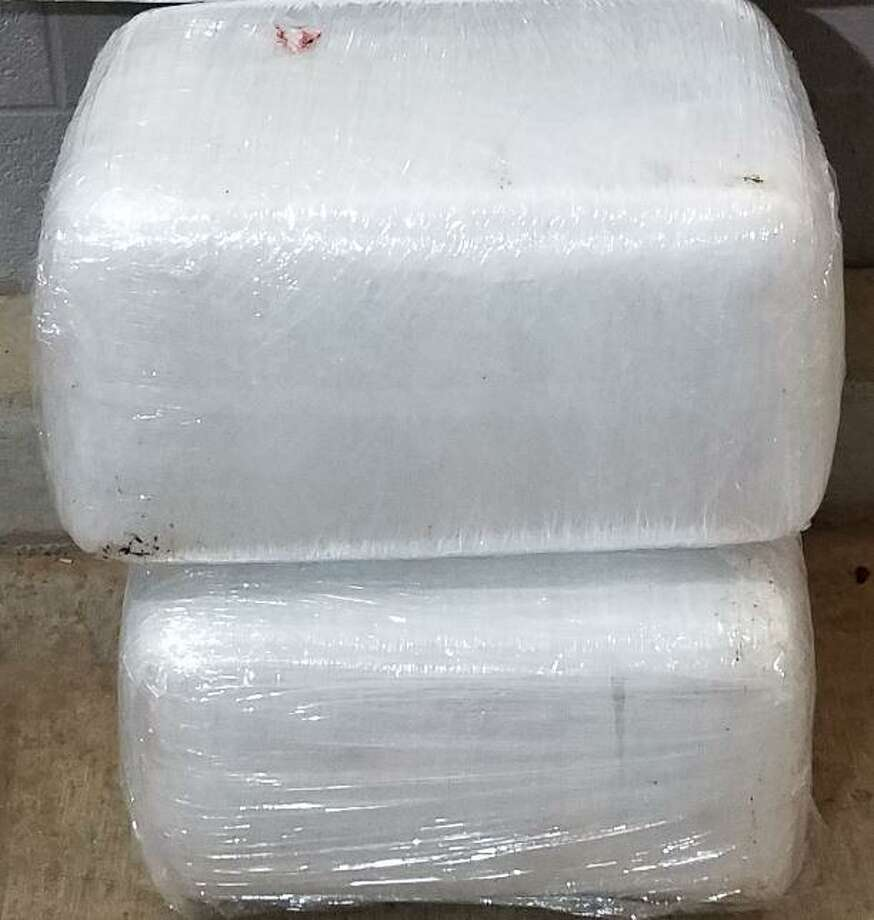 Fifty-four pounds of marijuana worth approximately $43,200 was seized on Monday hidden inside a sedan's truck at the Interstate 35 checkpoint in Laredo. Photo: Courtesy Of The U.S. Border Patrol
