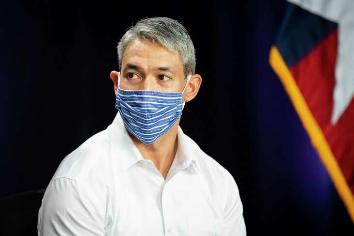 Mayor Ron Nirenberg says the coronavirus risk level has dropped to steady from severe/critical. He spoke during the daily city-county coronavirus briefing on Monday, Aug. 10, 2020.