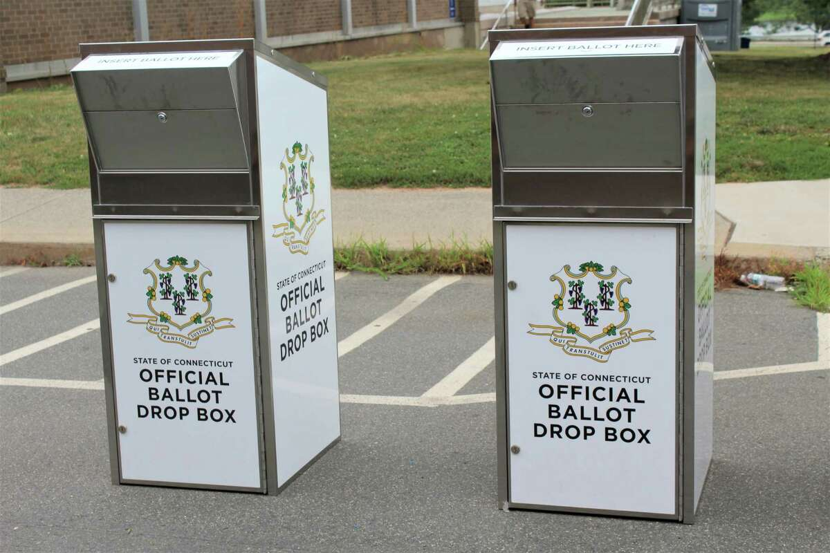 Two absentee ballot boxes are positioned outside Middletown City Hall ahead of the primary election Aug. 11. Filling out and submitting the application If your reason for voting via absentee is the pandemic, check the