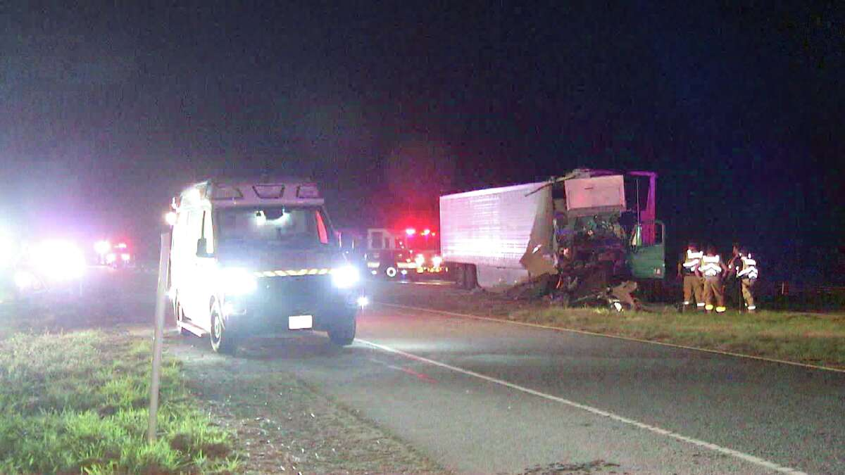 A Bexar County interstateturned a little green Tuesday morning after an 18-wheeler carrying cabbage crashed on the far South Side.