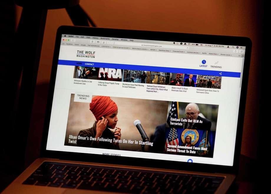 The Wolf of Washington website on a laptop computer. Photo: Washington Post Photo By Melina Mara. / The Washington Post