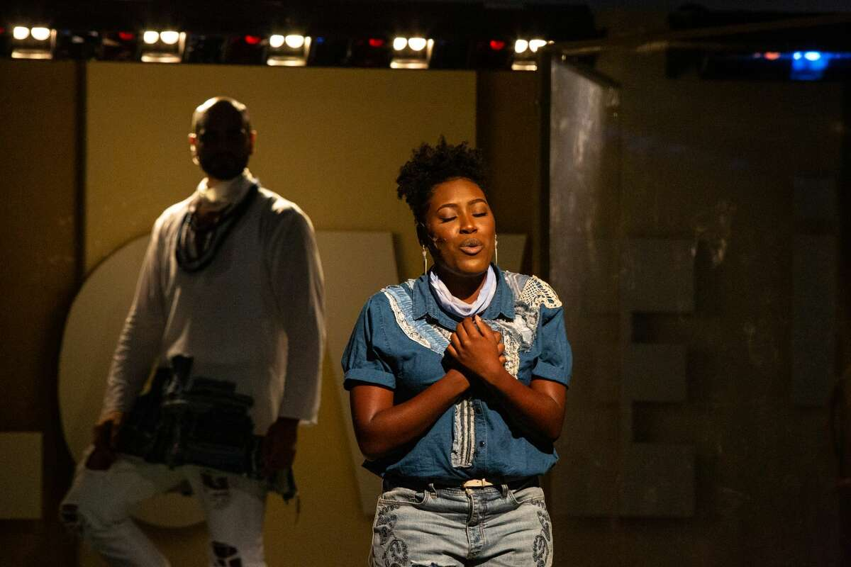 Najah Hetsberger plays one of the disciples in Berkshire Theatre Group's production of