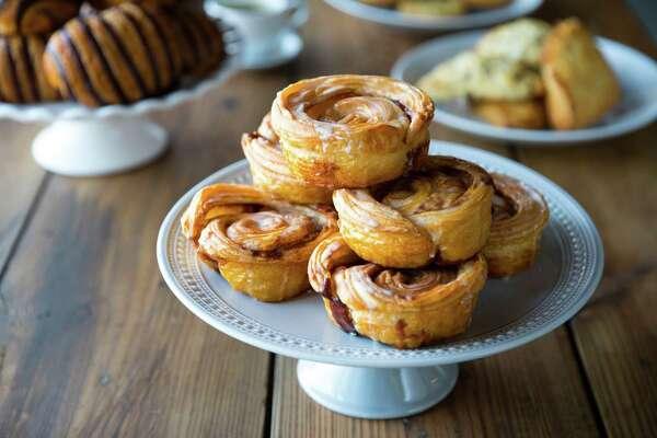 Cinnamon rollsat White Elm Cafe Bakery, opening Aug. 11 at 14079 Memorial.