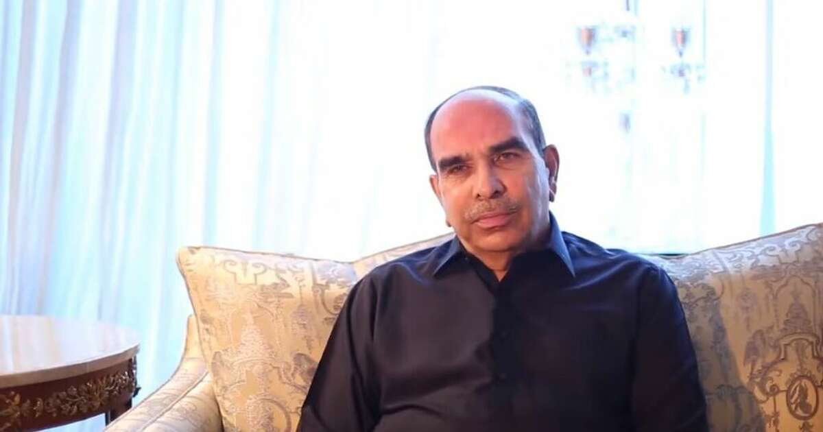 A picture of Malik Riaz Hussain from his personal web site.