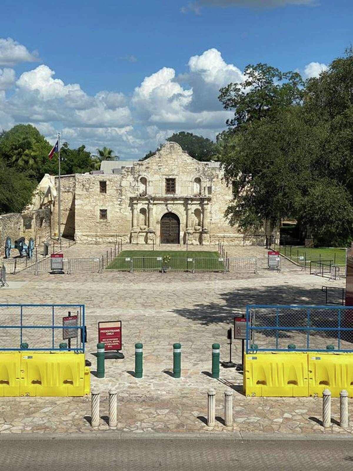 Alamo Plaza has reopened for the first since June, the historical site announced Monday on Twitter. The Alamo, however, will remain closed until further notice.