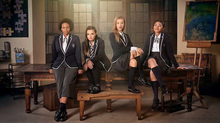 """Get Even"" is a BBC/Netflix series about a group of girls trying to make their school a better place. Photo: Netflix / Contributed Photo /"