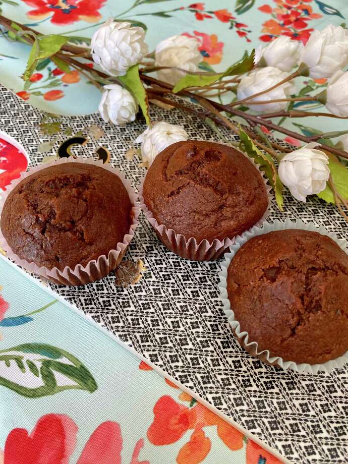 Chocolate zucchini muffins are a healthy and sweet treat. Photo: TinaMarie Craven/ Hearst Connecticut Media