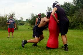 On Monday night, Reed City's football team held its first true practice of the preseason.