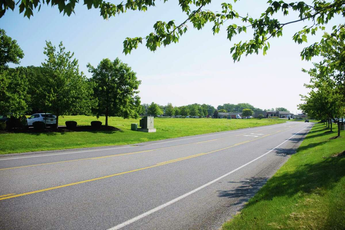 A view of a parcel of land on Halfmoon Crossing Blvd. on Tuesday, Aug. 11, 2020, in Halfmoon, N.Y. The town of Halfmoon has approved the construction of a specialty grocery store on this parcel. (Paul Buckowski/Times Union)