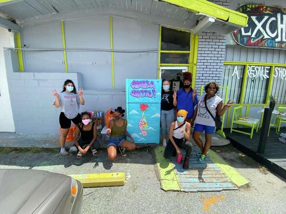 Houston's first community fridge is finally here. Photo: Courtesy Of Nina Mayers
