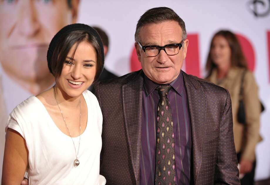 "Zelda Williams and Robin Williams arrive at the ""Old Dogs"" Premiere at the El Capitan Theatre on November 9, 2009 in Hollywood, California. (Photo by John Shearer/WireImage) Photo: John Shearer/WireImage / 2009 WireImage"