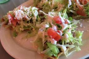 The beef huaraches plate at Taco Lindo