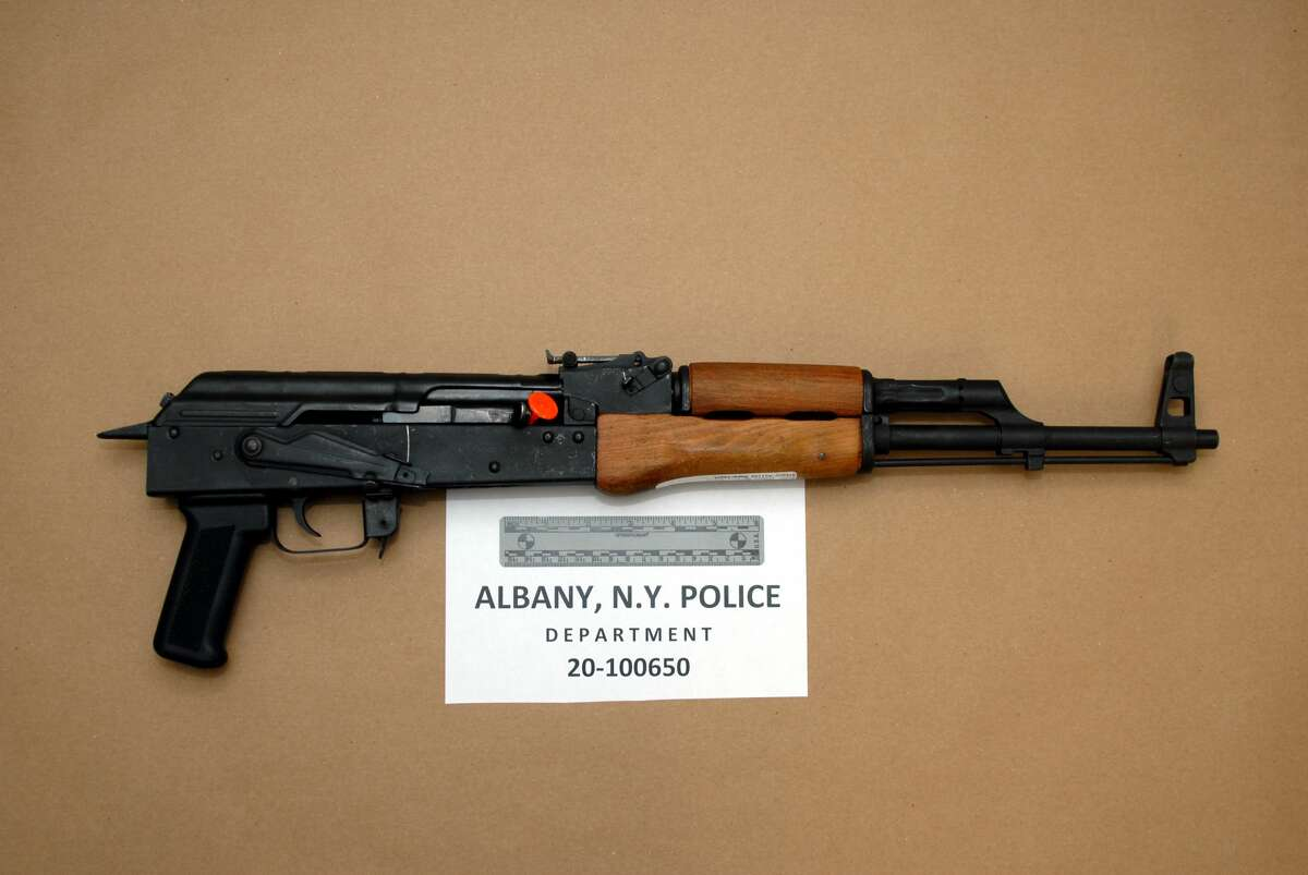 A rifle Albany police recovered on Aug. 11, 2020.