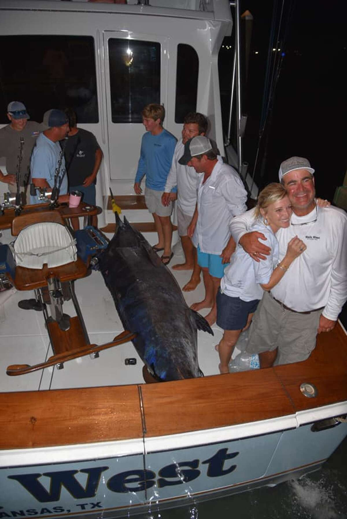 Fishermen competing in a the Texas Billfish Tournament last Friday caught a massive 737-pound blue marlin. According to tournament organizer Dave Cochrane, the fish was the largest blue marlin to ever be weighed in at Port Aransas.