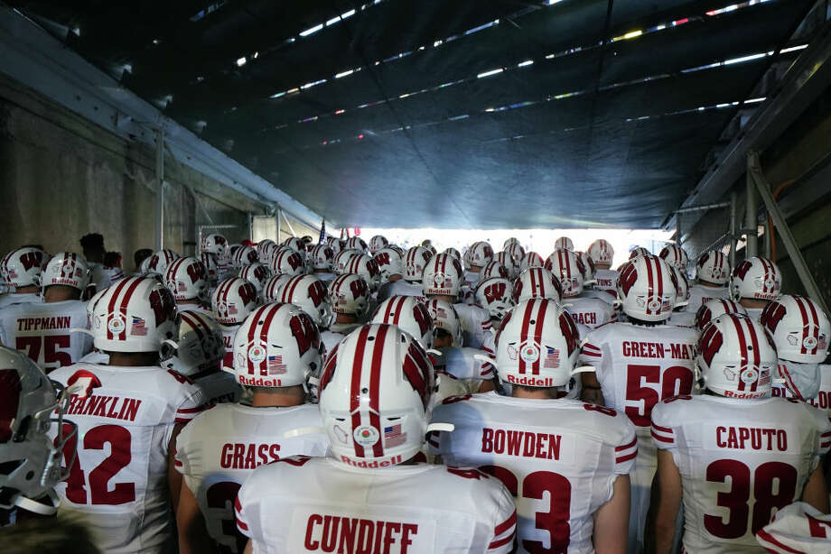 The Wisconsin Badgers gather in the tunnel prior to the Rose Bowl game presented by Northwestern Mutual against the Oregon Ducks at Rose Bowl on January 01, 2020 in Pasadena, California. (Photo by Michael Heiman/2020 Getty Images) Photo: Michael Heiman/2020 Getty Images