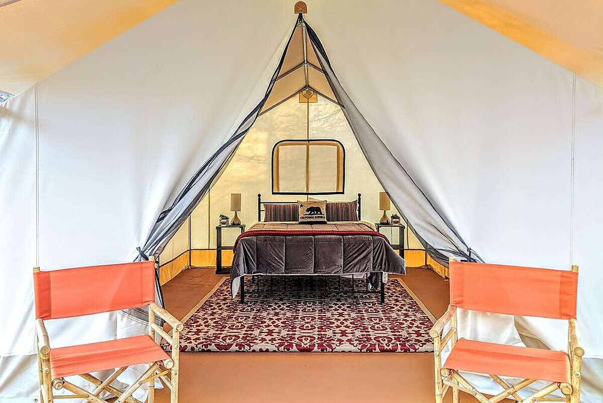 A safari-style glamping tent at Wild Haven in Sonoma