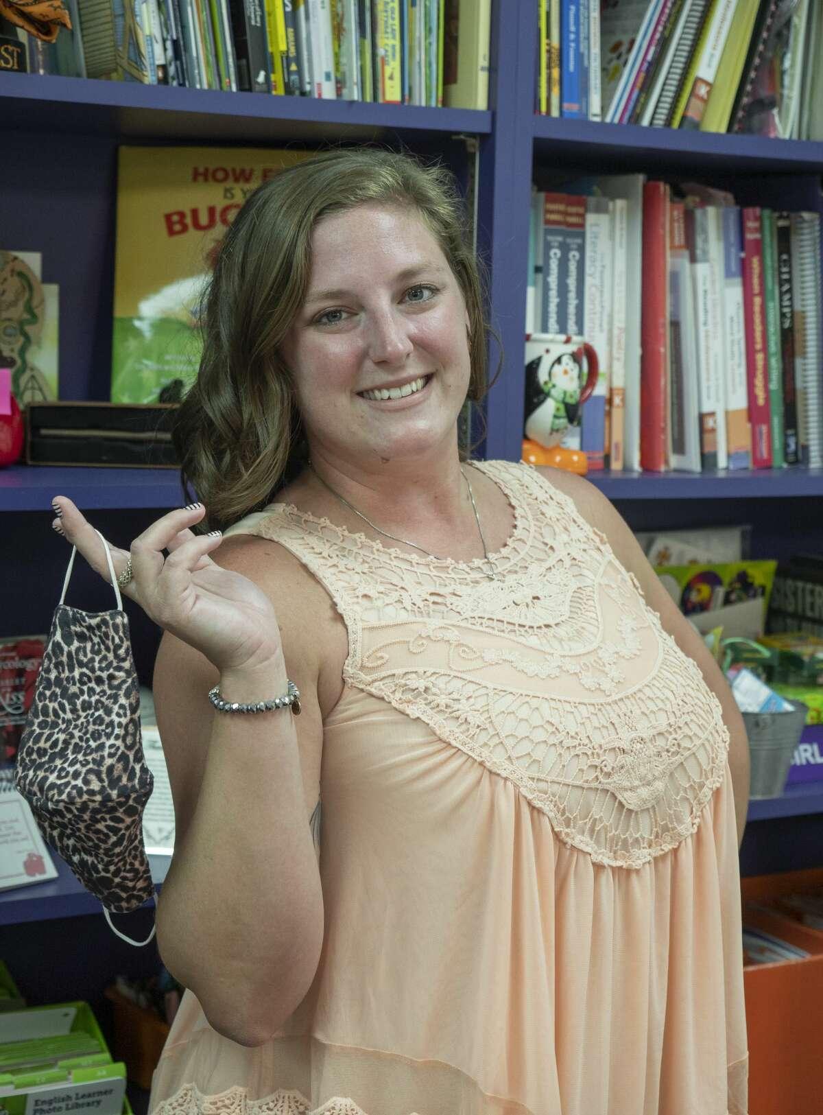 Brittany Davis, kindergarten teacher at Jane Long Elementary. 8/11/2020 Tim Fischer/Reporter-Telegram