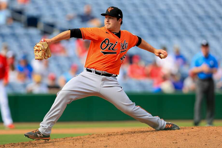 Baltimore Orioles' Keegan Akin delivers a pitch during a Feb. 24, 2020 spring training game against the Philadelphia Phillies in Clearwater, Fla. Photo: Carmen Mandato/Getty Images / 2020 Carmen Mandato