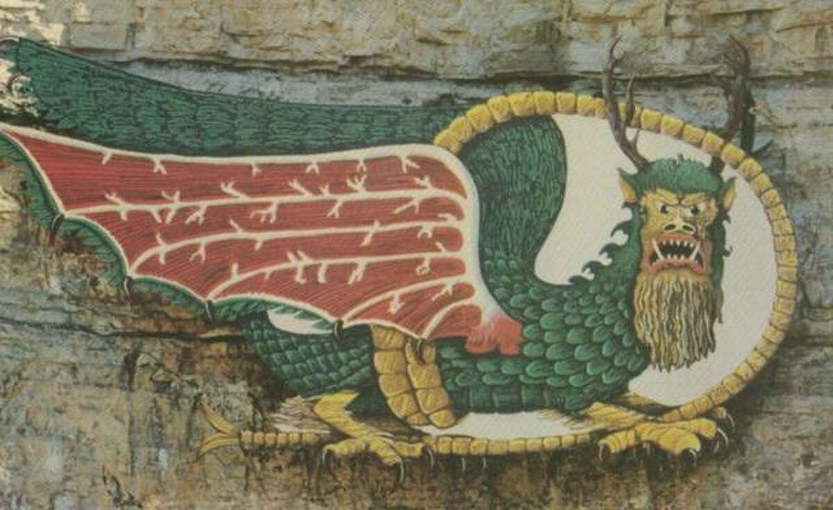 The Piasa bird is a large tourism draw to the Metro East area, but especially to Alton. While this may not be what Father Jacques Marquette actually described back in the 17th Century, the Piasa is a mascot for the area, both literally and figuratively. The mural now stands on two limestone bluffs in the Alton area. (File photo)