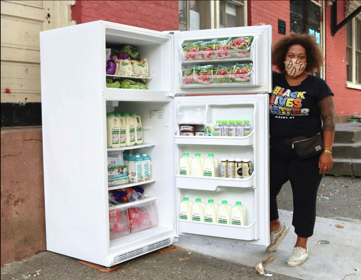 The Free Food Fridge Albany project, started by Jammella Anderson, is one of the latest food security programs to be launched within the city of Albany. Refrigerators were installed in public locations outside of businesses and donated food is placed and monitored in the refrigerator for anyone who needs it. The program takes the