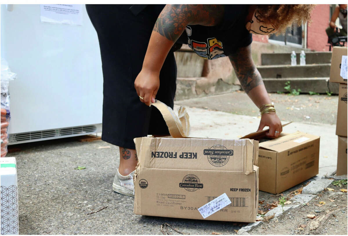 Jammella Anderson is behind Free Food Fridge Albany, which aims to lessen food insecurity within the city. She is working with Honest Weight Food Co-op for food donations.