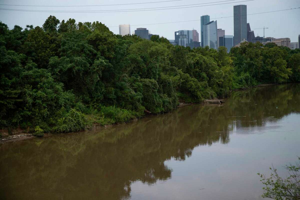 View of the skyline of downtown Houston from the former KBR property along Buffalo Bayou in the East End on Tuesday, Aug. 4, 2020, in Houston.