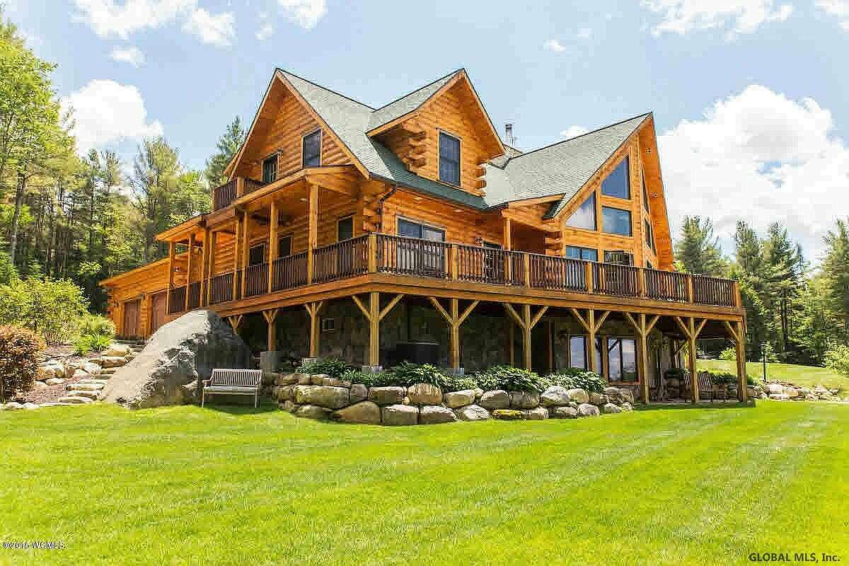 Scroll through the slideshow below to see a number of log cabin-style homes currently for sale in the Capital Region.