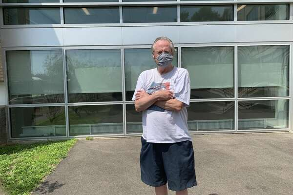 Paul Baumann, a Democrat voted for Biden at Fairfield Ludlowe High School in the primary on Aug. 11, 2020.