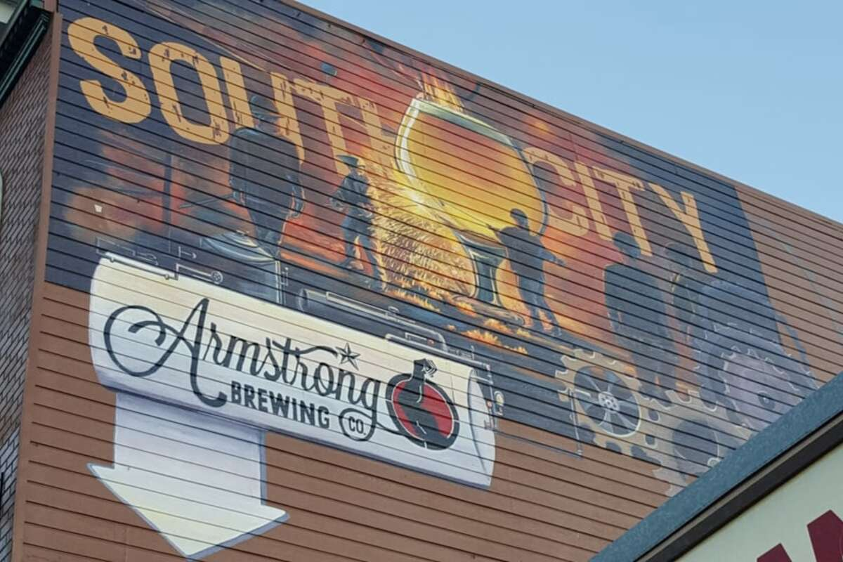 Armstrong Brewing in South San Francisco announced its permanent closure amid the ongoing pandemic. A sign for the brewery and tap room is pictured in this 2015 photo.