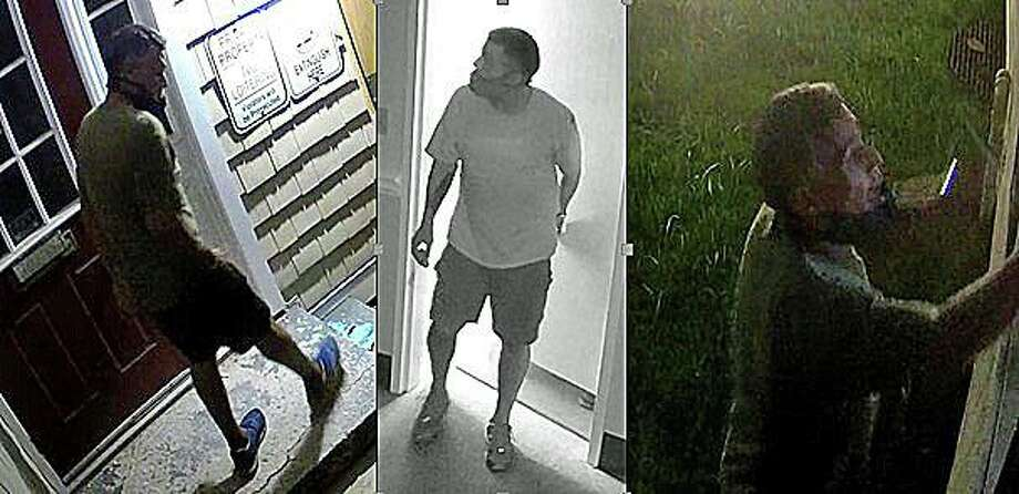 Stratford detectives are attempting to identify a burglary suspect. Police released photos of the suspect wanted in connection in a commercial burglary at approximately 3 a.m. on Monday, Aug. 3 at 2595 Main St. Photo: Stratford Police Photo