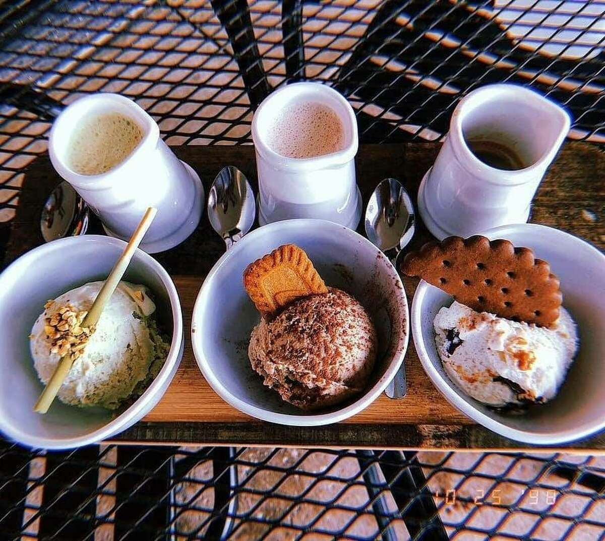 Paciugo San Antonio is offering three-cup affogato flights, with gelato and pour-over parings, topped with all the options a sweet tooth could dream of.