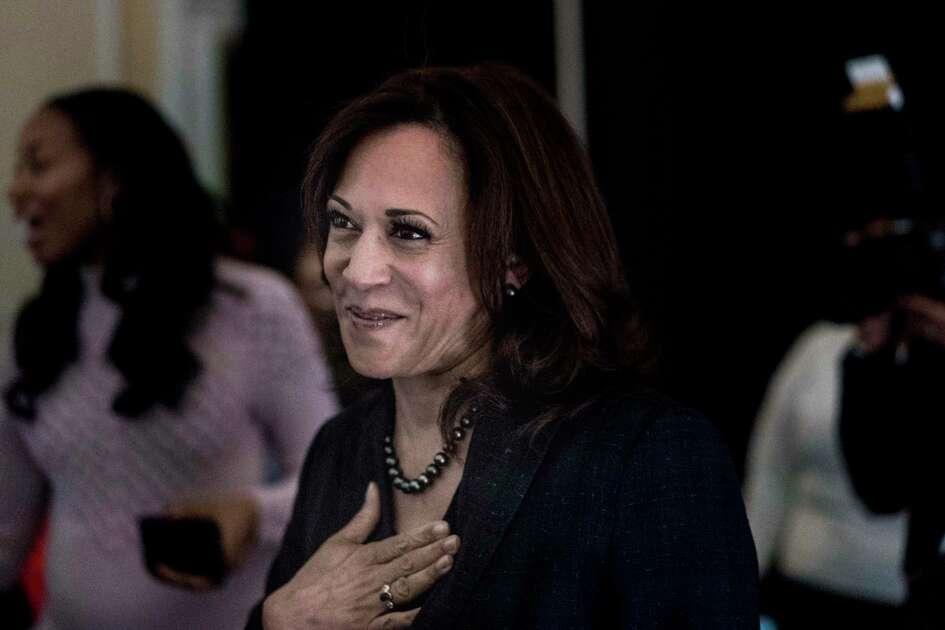 Sen. Kamala Harris, D-Calif., attends a Black Enterprise Women of Power Summit in Las Vegas in March 2019.