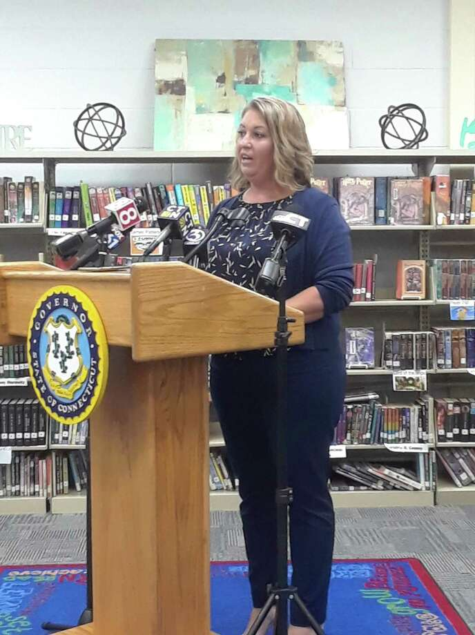 Superintendent of Schools Melony Brady-Shanley earned some high marks from Gov. Ned Lamont last week for her school district's plan to reopen Winchester Public Schools, and the work continues as opening day draws closer. Photo: Emily M. Olson / Hearst Connecticut Media