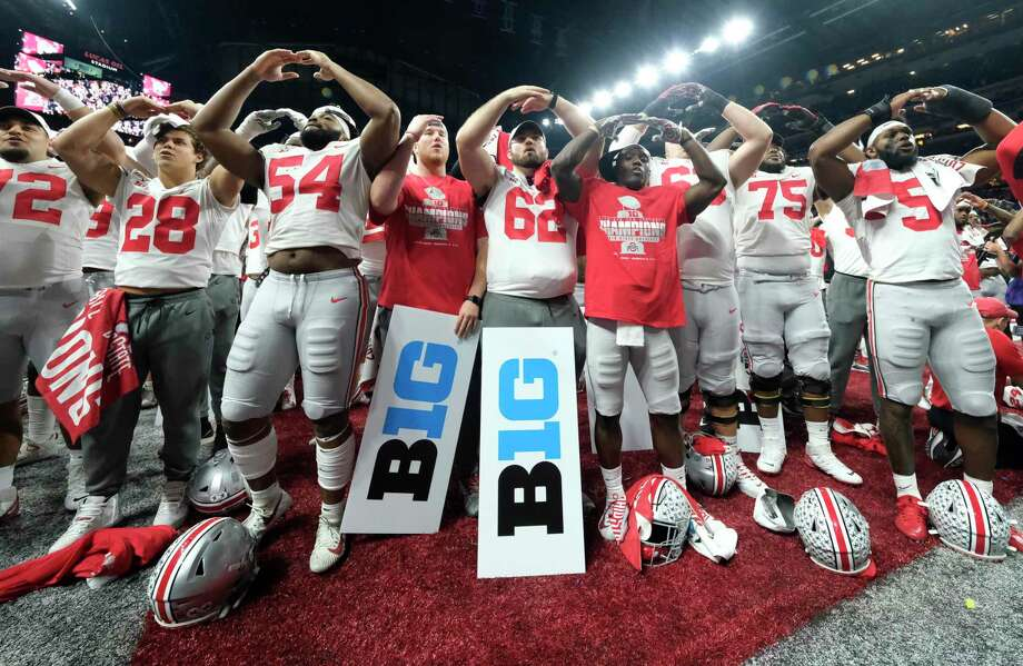 Ohio State, which last December celebrated a victory over Wisconsin in the Big Ten Championship Game, won't be playing football this fall. Photo: AJ Mast, FRE / Associated Press / Copyright 2019 The Associated Press. All rights reserved.