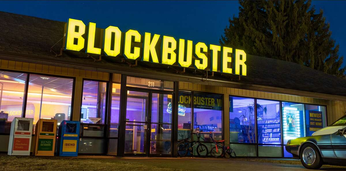Listed on Airbnb as a studio with one bed and a half-bath, the Blockbuster store in Bend, Ore., is offering three one-night stays to Deschutes County residents for $4 - about the same price as a Blockbuster video rental. And judging by the description, the getaway sounds like a 1990s dream: