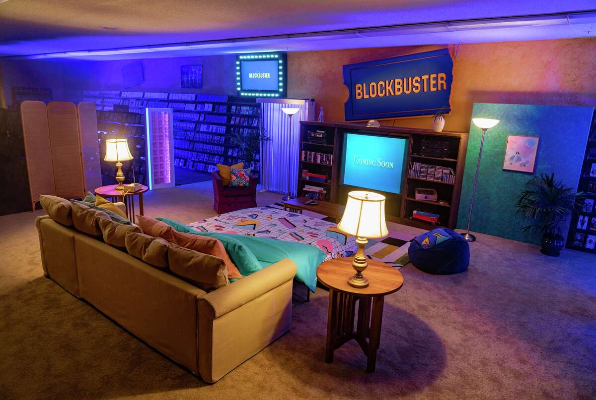 The '90s-themed stays will take place on Sept. 18, 19 and 20, and include unlimited video games, movies (be kind, rewind!) and snacks, including popcorn and nostalgic favorites such as Raisinettes, Nerds and retro bags of Doritos. Stays can be booked beginning Monday at 1 p.m. Enhanced cleanings will take place between parties, with hand sanitizer and face masks also provided. Groups of up to four people can book a stay to isolate together. Store manager Sandi Harding says listing the property on Airbnb is her way of giving back to the local community.