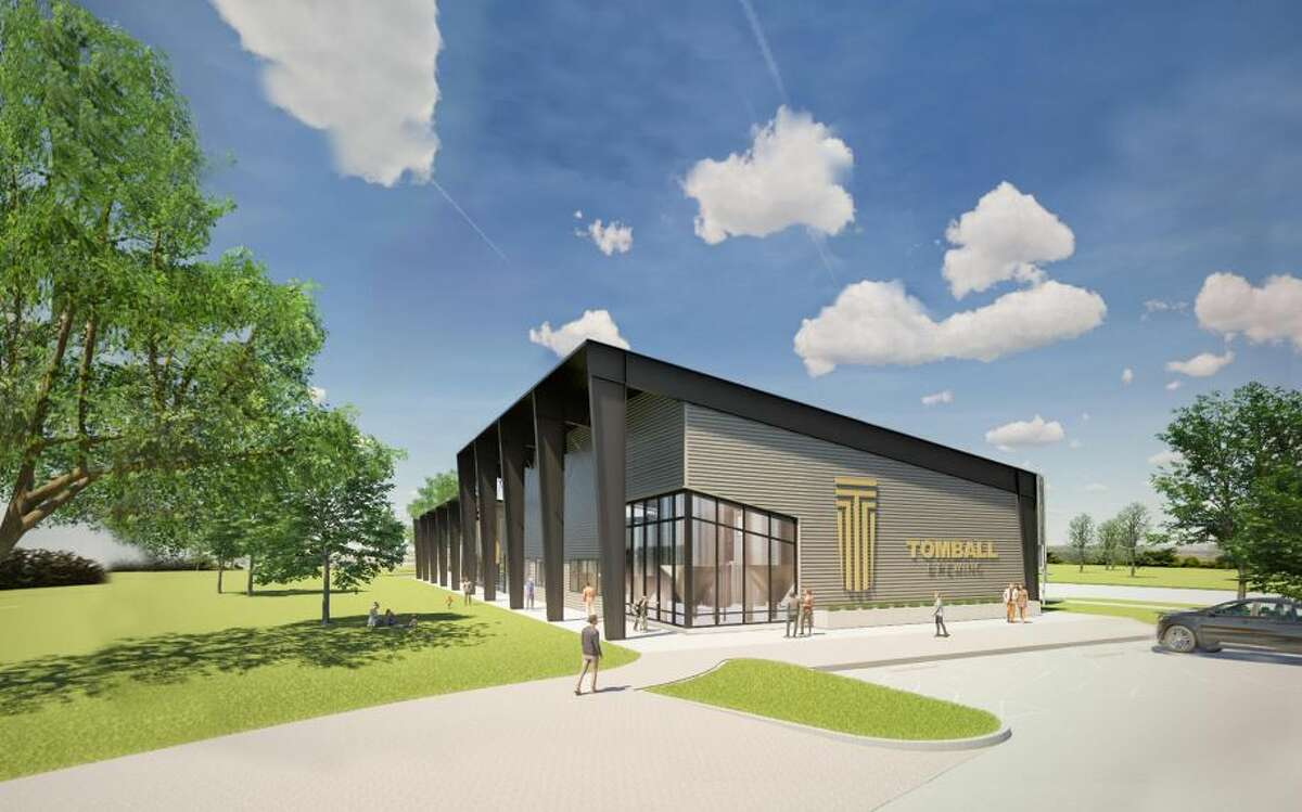 A rendering shows the brewery facility planned in the Tomball Business and Technology Park.