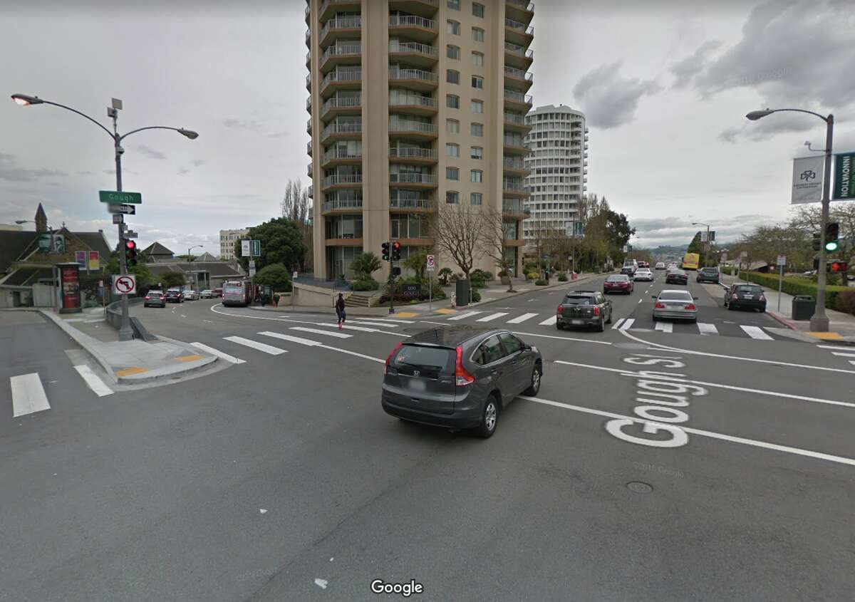 The intersection of Geary and Gough in San Francisco.