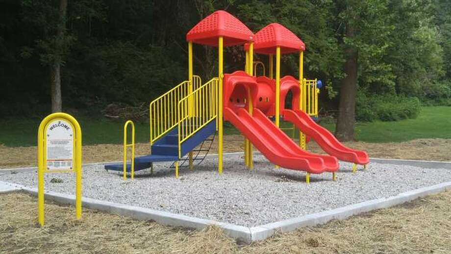 The installation of new playground equipment at Rock Spring Park and made possible by a Madison County Parks and Recreation Grant is expected to be completed this week. The improvements are the first the park has seen for several years.